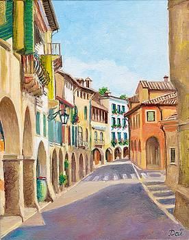 Via Browning in Asolo Veneto Italy by Dai Wynn