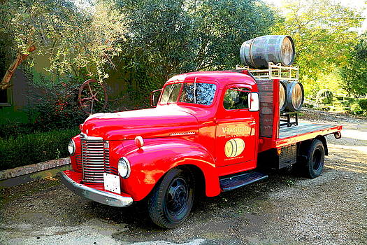 Joyce Dickens - Viaggio Winery Truck and Barrels