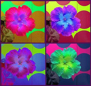 Vibrant Flower Series 2 by Jen White