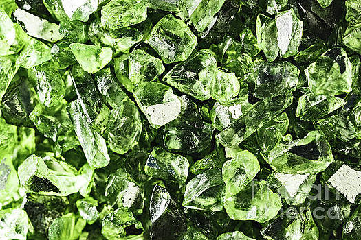 Vibrant greenery crystal rocks by PLdesign