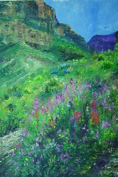 Vibrant landscape paintings - Canyon Splendor - Virgilla Art by Virgilla Lammons