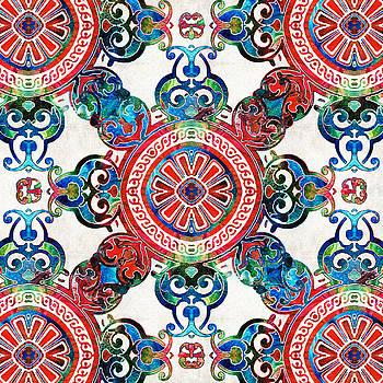 Sharon Cummings - Vibrant Pattern Art - Color Fusion Design 4 By Sharon Cummings