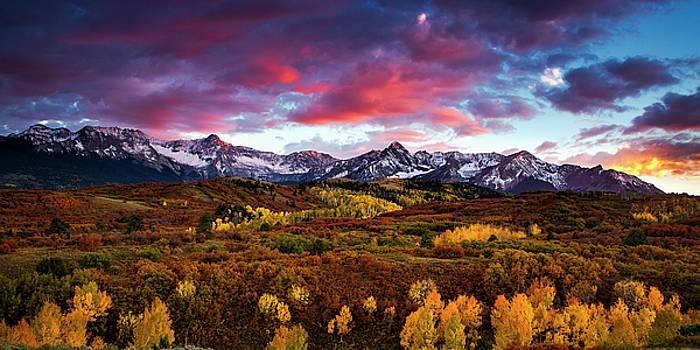 Vibrant Rockies Sunset by Andrew Soundarajan