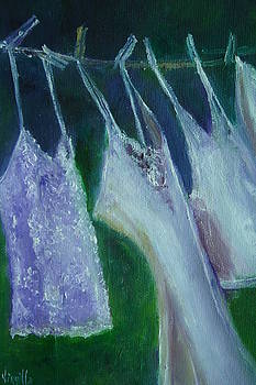 Vibrant still life paintings - Wash Day - Virgilla Art by Virgilla Lammons