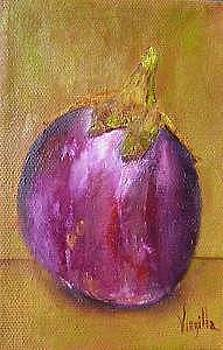 Vibrant still life paintings  Eggplant  Virgilla Art by Virgilla Lammons