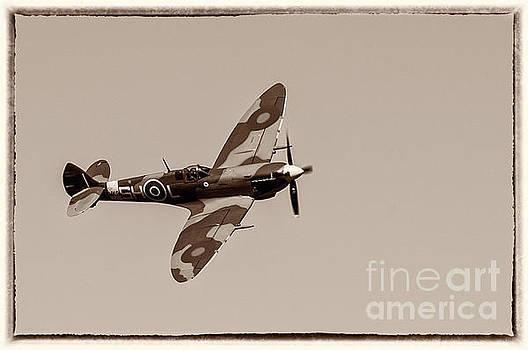 Vickers Supermarine Spitfire Mk IX - in flight by Robert McAlpine