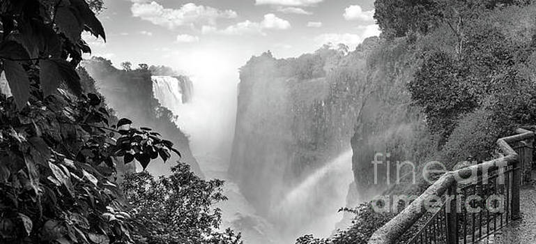 Victoria Falls Africa Black And White by Tim Hester