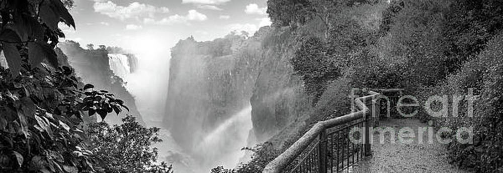 Victoria Falls Black And White by Tim Hester