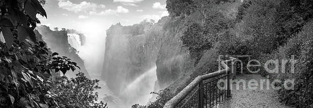 Tim Hester - Victoria Falls Black And White