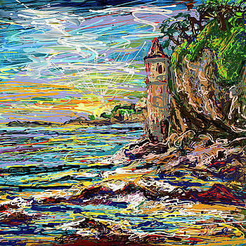 Victoria Pirate Tower Laguna Beach by ron Hust and Ron Libbrecht
