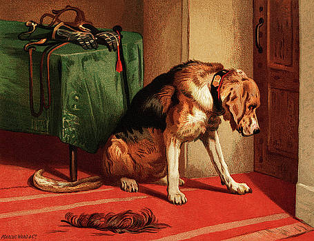 Victorian bloodhound mastiff waiting by sir Edwin Landseer