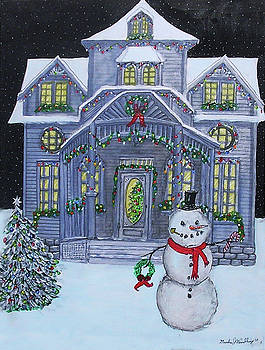 Victorian Christmas House by Gordon Wendling