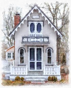Victorian Cottage Watercolor by Edward Fielding