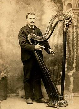 Peter Gumaer Ogden - Victorian Harpist St Louis Missouri Saettele Studio 1885