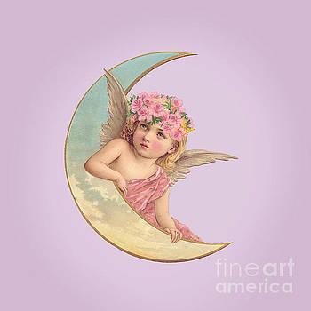 Victorian Moon Angel by Leah McPhail
