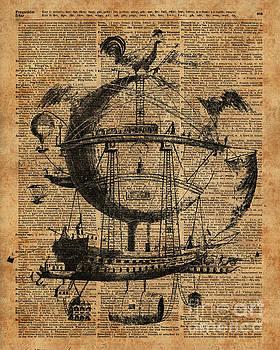 Victorian Steampunk Flying Machine by Anna W