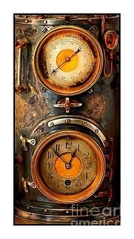 Victorian Steampunk Meteorological Atmospheric Brass Steel and Copper Barometer by Peter Gumaer Ogden Collection
