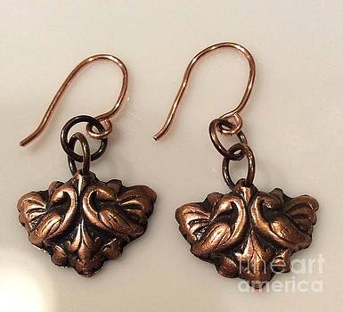 Victorian Style Copper Earrings by Melany Sarafis