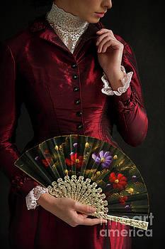 Victorian Woman With Fan by Lee Avison