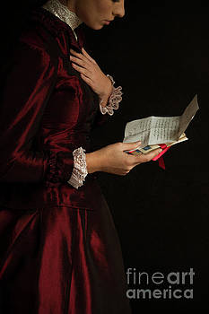 Victorian Woman With Love Letters by Lee Avison