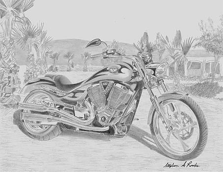 Victory Jackpot MOTORCYCLE ART PRINT by Stephen Rooks