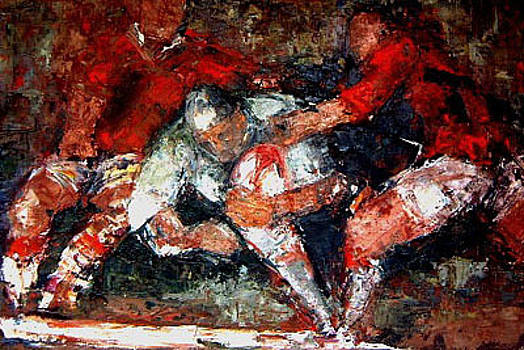 Victory Rugby Art by Rugby Paintings Medium Print