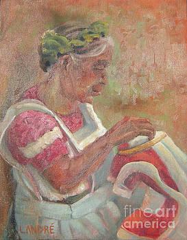 Viejita Bordando by Lilibeth Andre