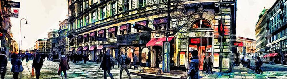Justyna Jaszke JBJart - Vienna street watercolor