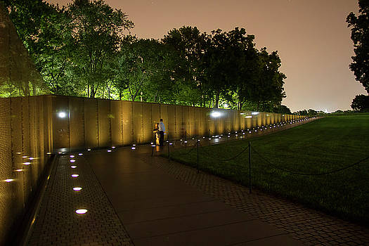 Vietnam Memorial By Night by Newman Artography
