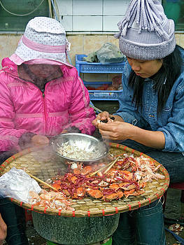 Vietnamese Crab Vendors by Sally Weigand