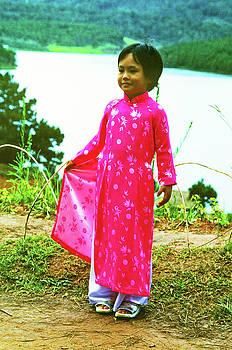 Vietnamese Girl In Native Dress by Rich Walter