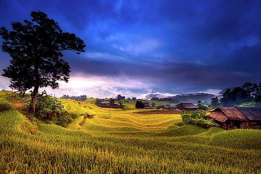 Vietnamese Village At Sunrise by Pixabay