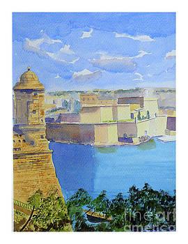 view across Grand Harbour by Godwin Cassar