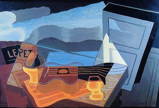 View Across The Bay 1921 by Gris Juan