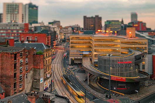 View down Nicholas Croft towards Manchester Arndale, Manchester, by Neil Alexander