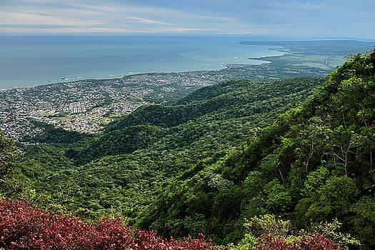 Reimar Gaertner - View East from Mount Isabel de Torres mountain of Puerto Plata a