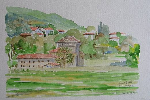 View from a park in Perugia Italy by Janet Butler