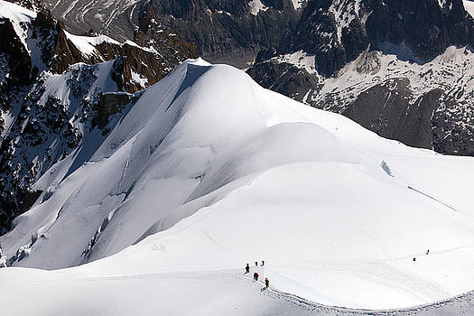 View from Aiguille du Midi by Aivar Mikko
