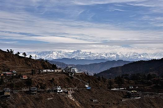 View From Chamba Road - Himalayas India by Kim Bemis