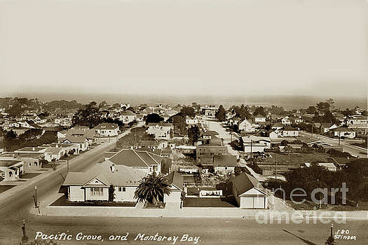 California Views Mr Pat Hathaway Archives - View from Forest Hill Hotel Pacific Grove, Calif. circa 1930