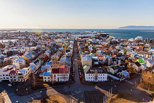 View from Hallgrimskirka by Wade Courtney