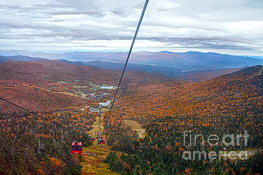 View from Mount Mansfield in Autumn by Catherine Sherman
