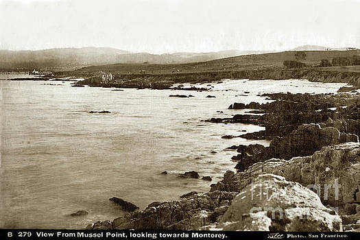 California Views Mr Pat Hathaway Archives - View From Mussel Point, New Monterey Looking towards Monterey 1880