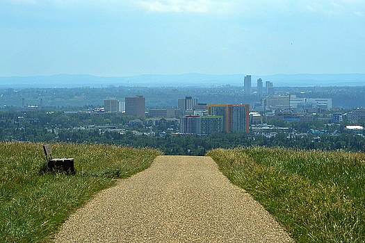 View from Nose Hill Park Calgary by Nicki Bennett