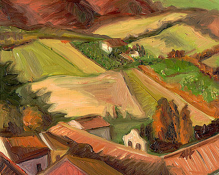 View from San Gimignano II by Jennie Traill Schaeffer