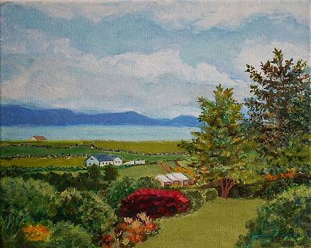 View From Slate Row, Carrigart, Donegal, Ireland, Second Version of Painting by Jeannie Allerton