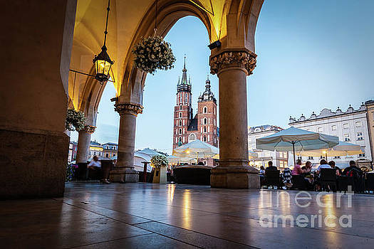 Michal Bednarek - View from the Cloth Hall to the Cracow main market square and St. Mary