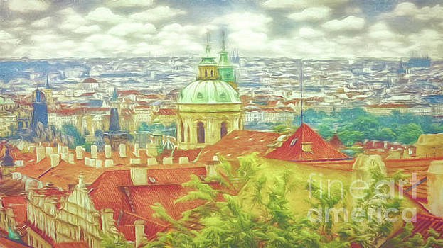 View from the high ground - Prague  by Leigh Kemp