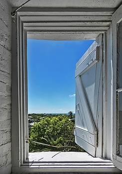 View from the Key West Lighthouse Window by Bob Slitzan