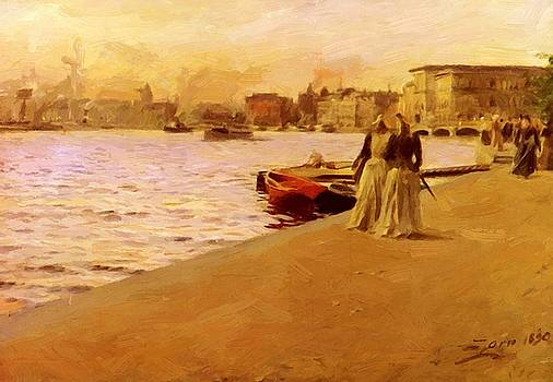 Zorn Anders - View From The Ship Island Pier 1890